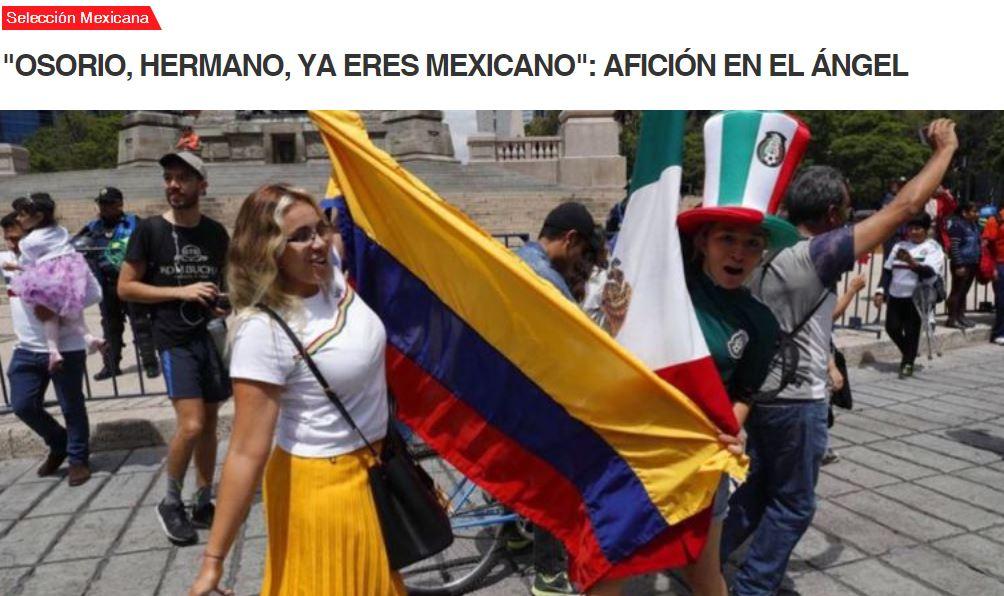 Hinchas mexicanos le envían mensaje a Juan Carlos Osorio