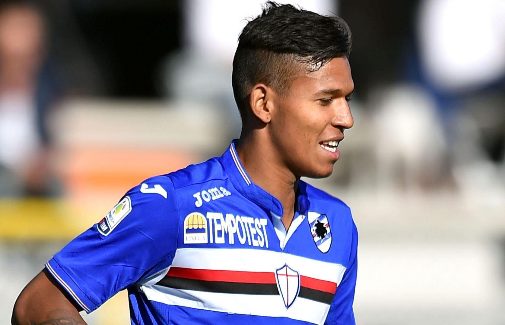 Andrés Ponce, zaguero venezolano de 21 años de edad que juega en la Sampdoria de Italia