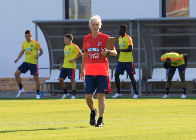 José Néstor Pékerman en el entrenamiento de Colombia pensando en Inglaterra