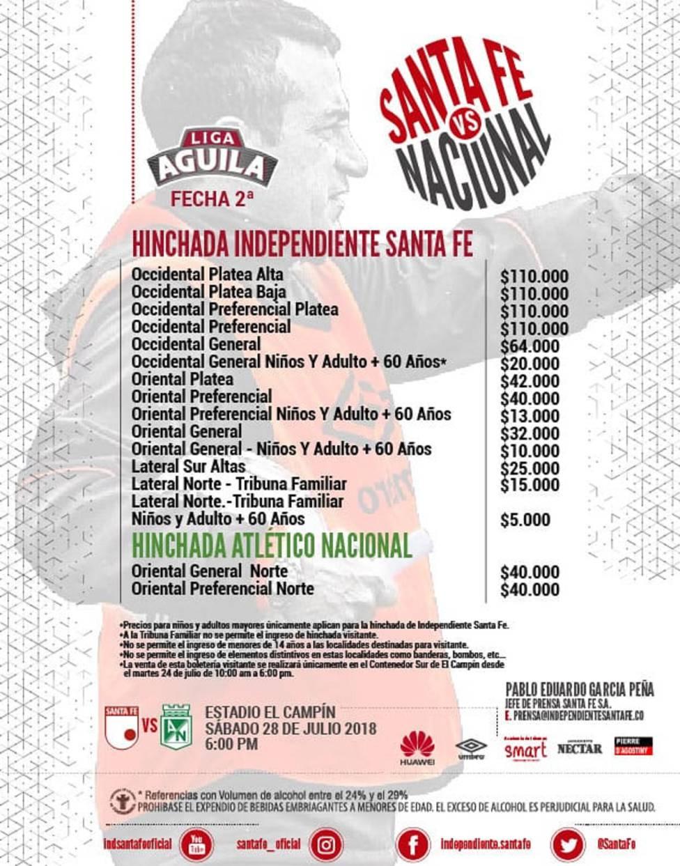 Independiente Santa Fe Vs. Atlético Nacional