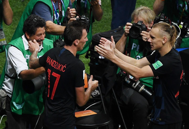 Croatas celebrando el paso a la final del Mundial
