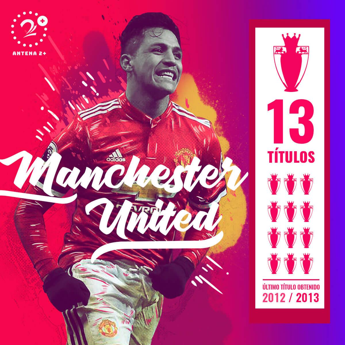 Manchester United, campeón 13 veces de la Premier League