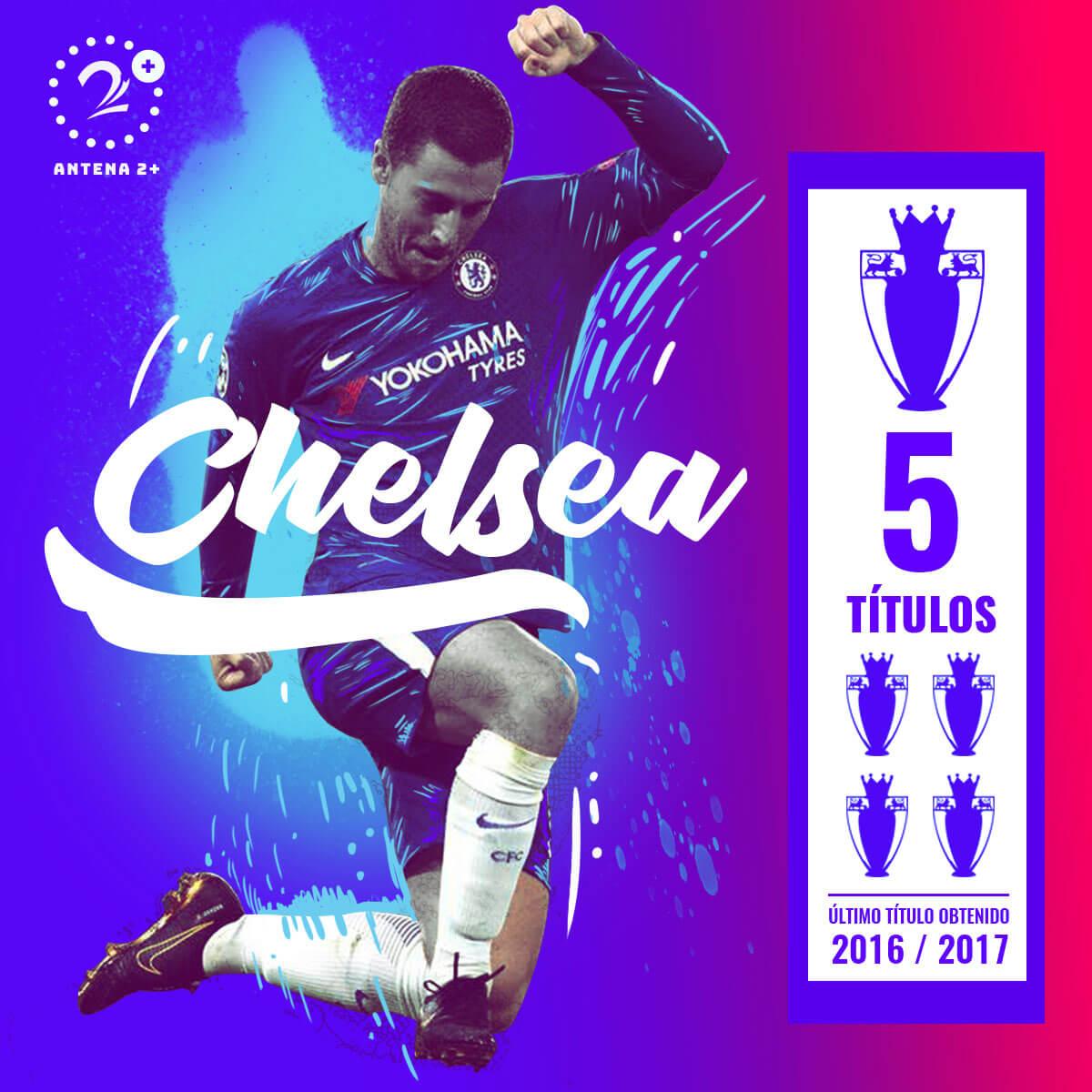Chelsea, campeón en cinco ocasiones de la Premier League