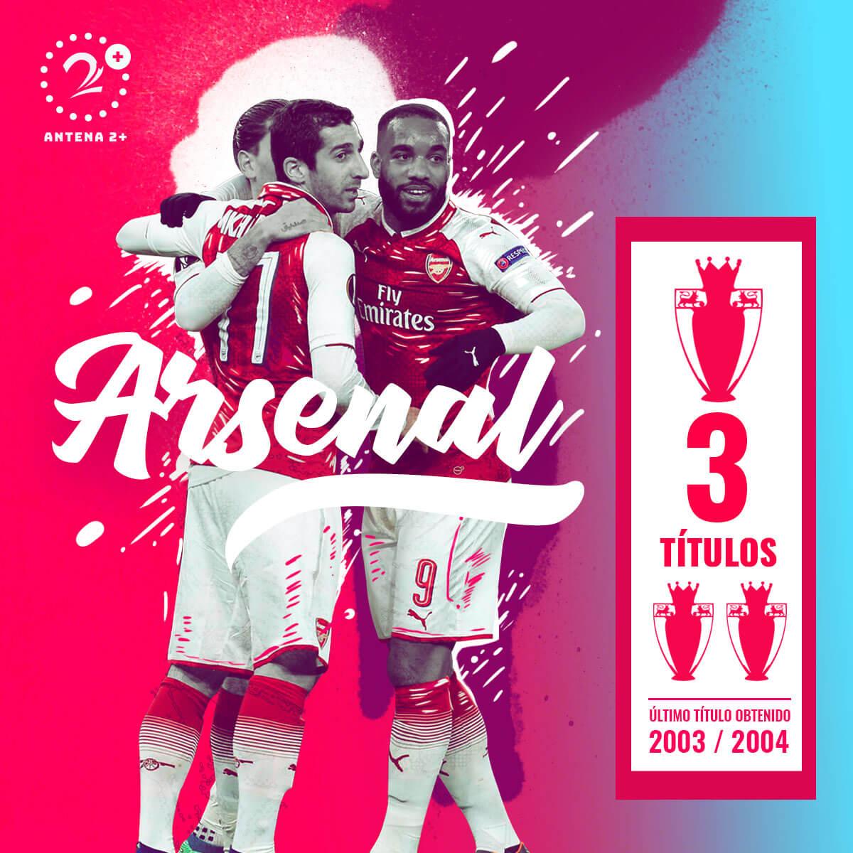 Arsenal, tres veces campeón de la Premier League
