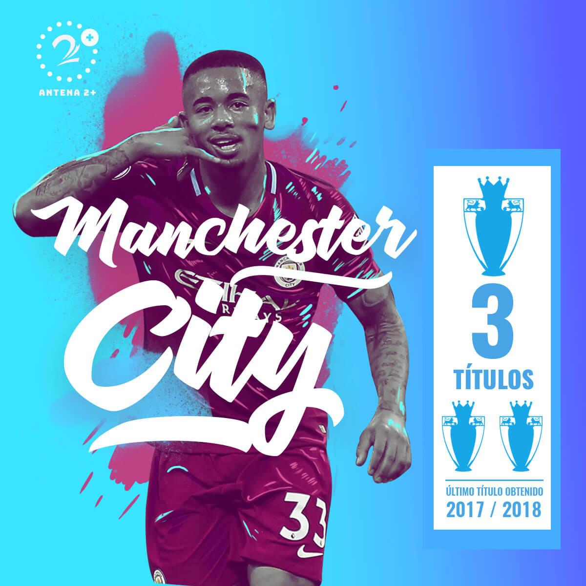 Manchester City, campeón en tres ocasiones de la Premier League