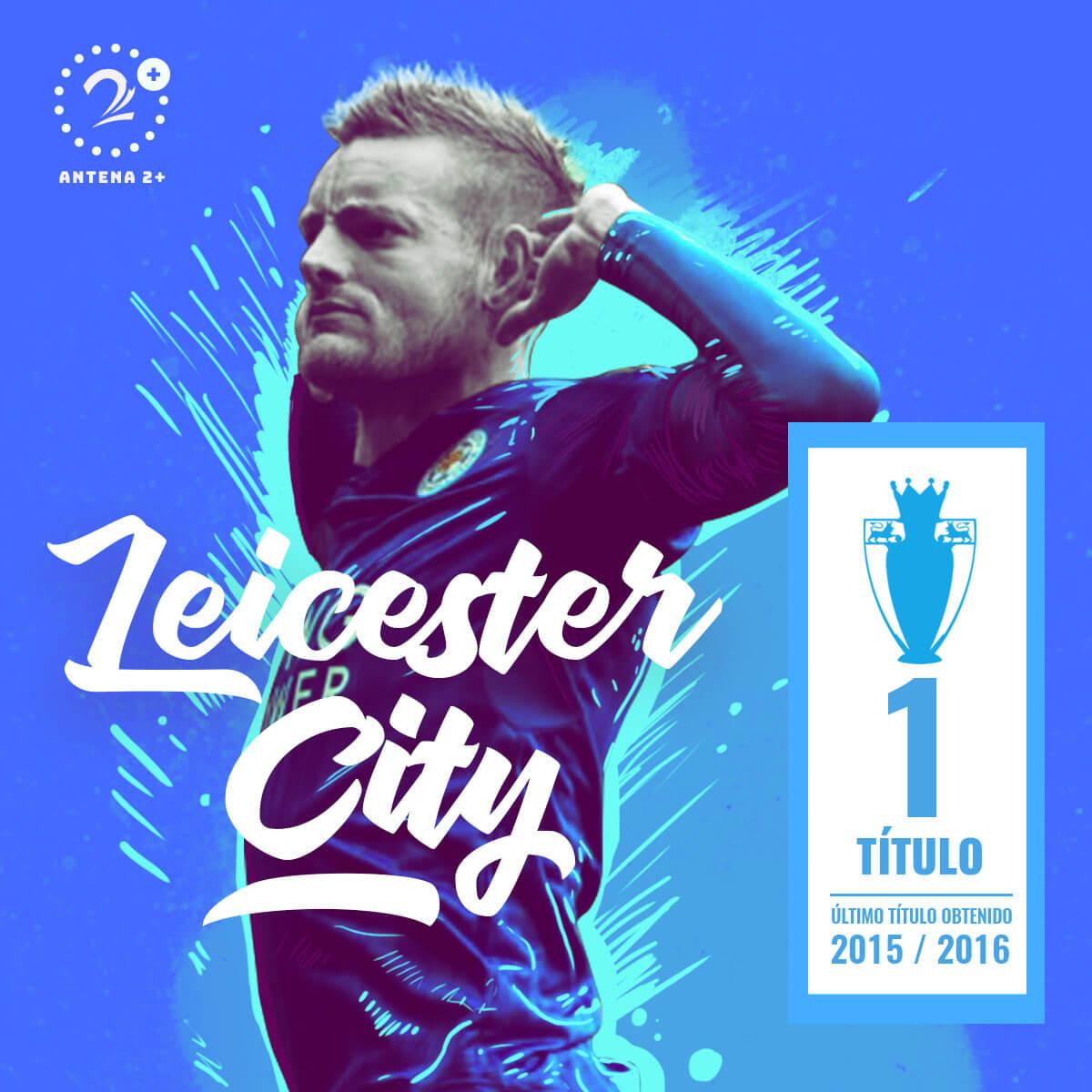 Leicester City, campeón en 2016 de la Premier League