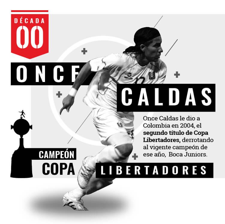 Once Caldas enamoró a Sudamericana en el 2004
