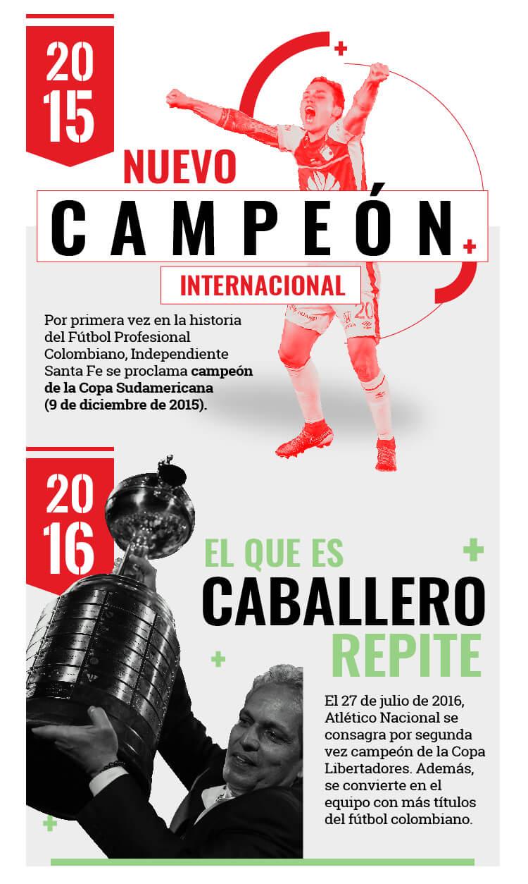 Santa Fe alcanzó la Sudamericana y Nacional obtuvo su segunda Libertadores.
