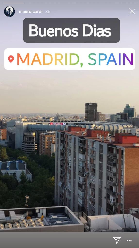 Mauro Icardi y la publicación en Instagram que despertó los rumores en Madrid