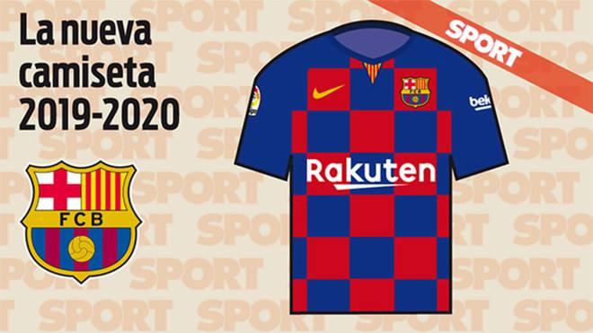 Nuevo diseño de la camiseta del Barcelona