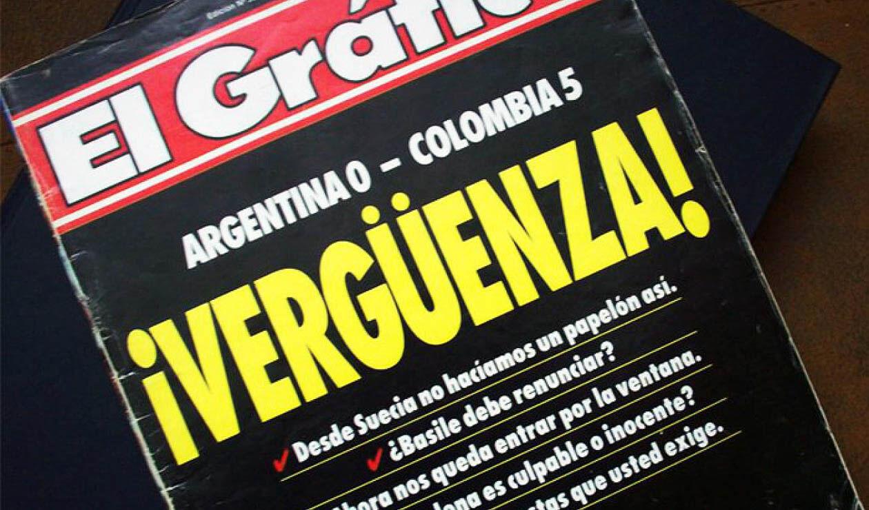 Portada de El Gráfico el 6 de septiembre de 1993