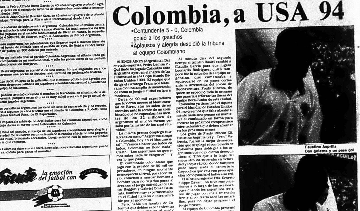 Portada del diario La República el 6 de septiembre de 1993