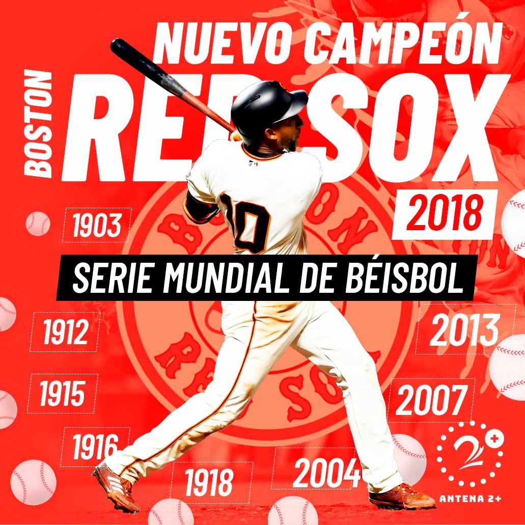 Los Medias Rojas de Boston, campeones por novena vez de la Serie Mundial
