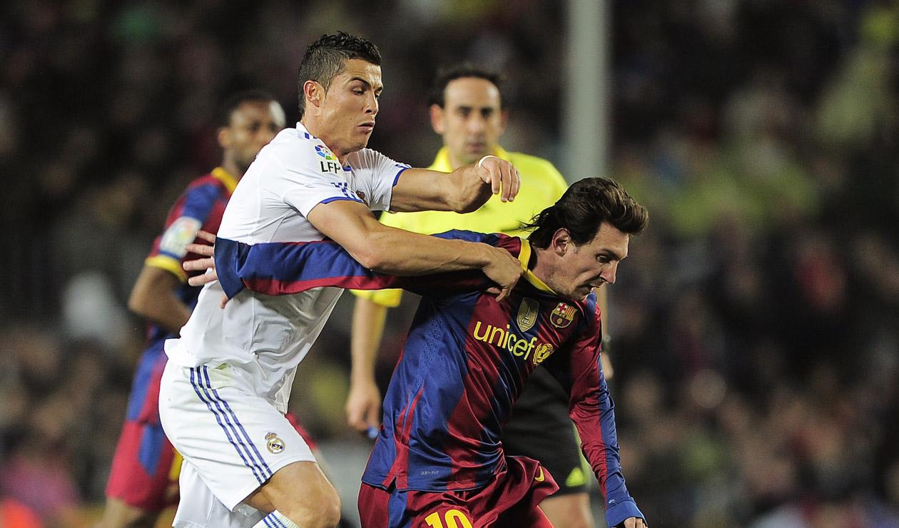 Messi en la victoria del Barcelona 5-0 por Liga ante el Real Madrid