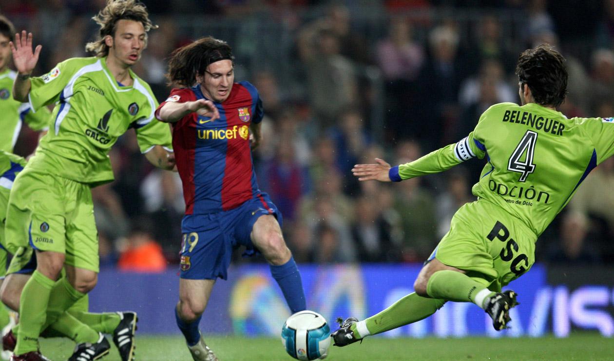 Lionel Messi contra Getafe 2007