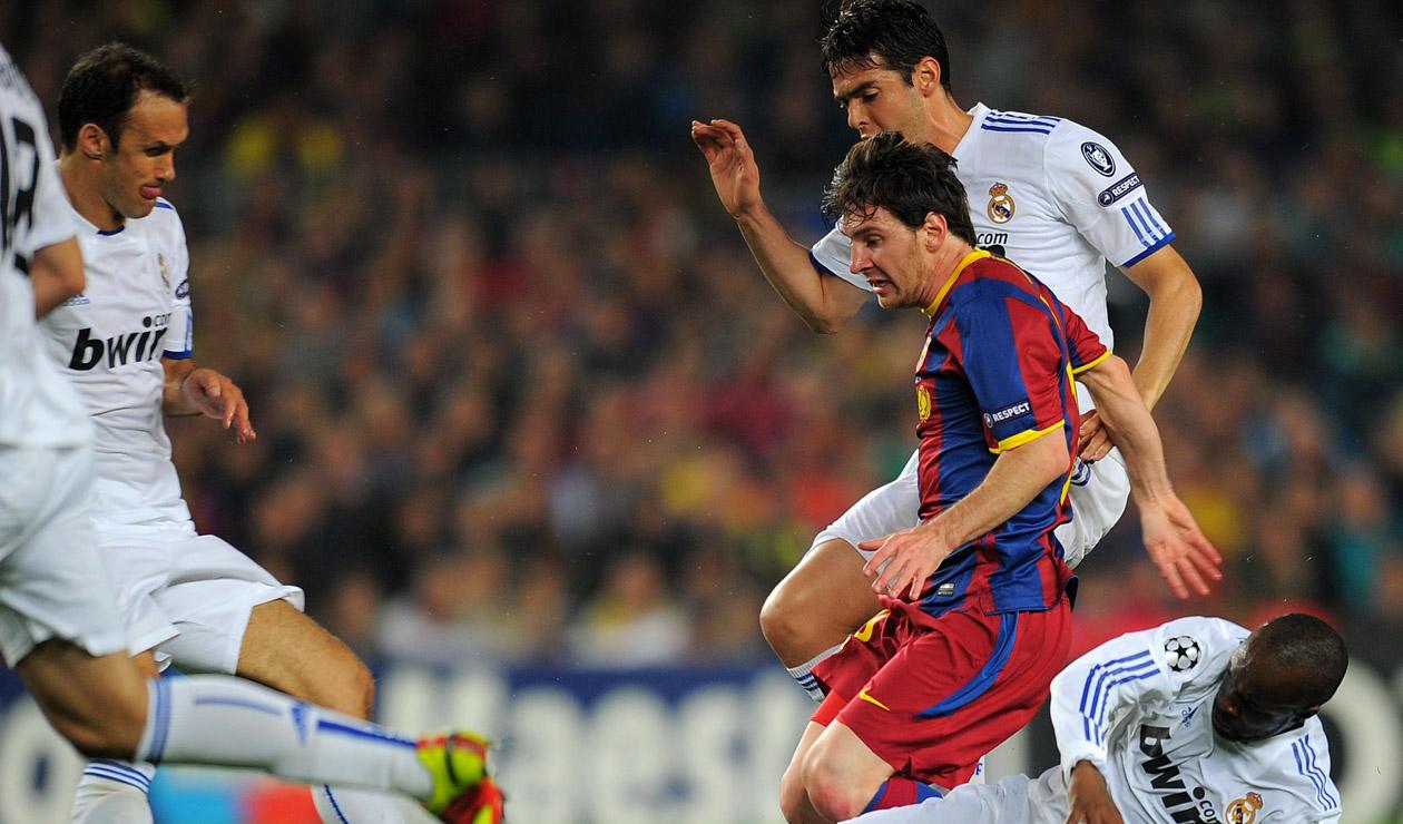 Messi, contra el Real Madrid en 2011 en Champions League
