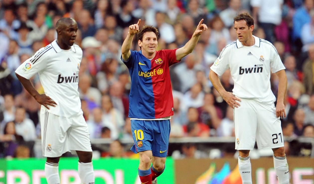 Messi contra el Real Madrid en 2009