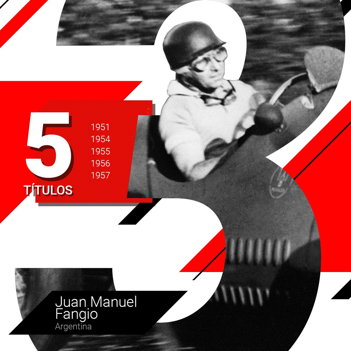 Juan Manuel Fangio, el máximo campeón de la Fórmula 1 a lo largo de varias décadas