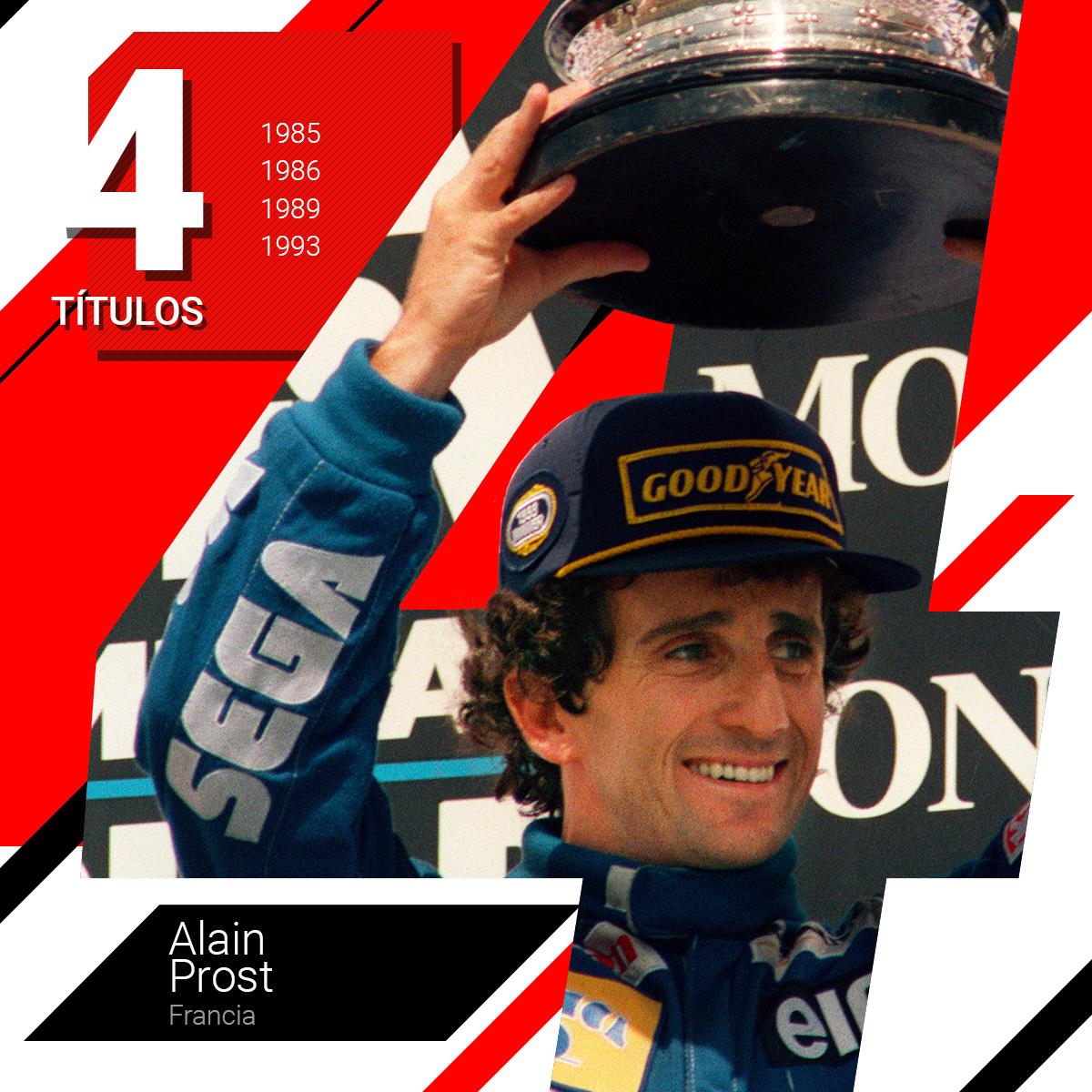 Alain Prost, campeón durante sus años de rivalidad con el brasileño Airton Senna