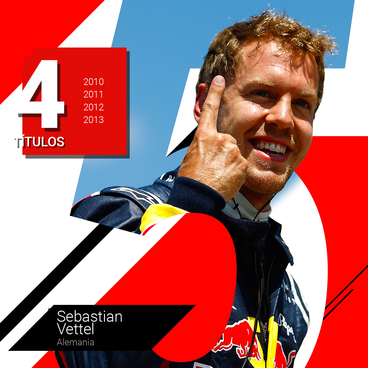 Sebastian Vettel, rey de la Fórmula 1 mientras estuvo en Red Bull