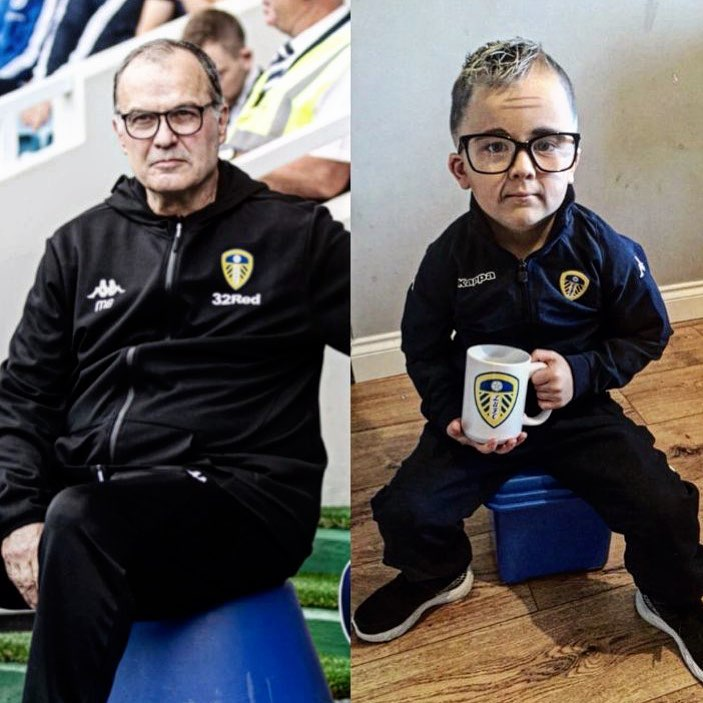 Marcelo Bielsa y el idéntico disfraz de un niño que fue tendencia
