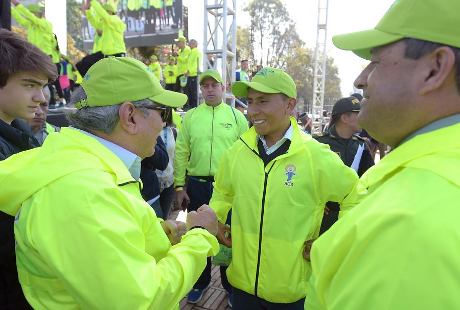 Nairo Quintana en la Carrera por la Policía 10K