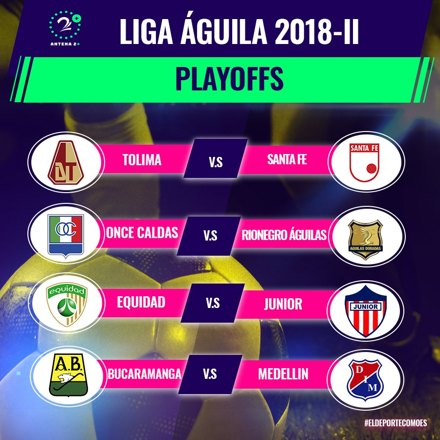 Llaves de playoffs Liga Águila II