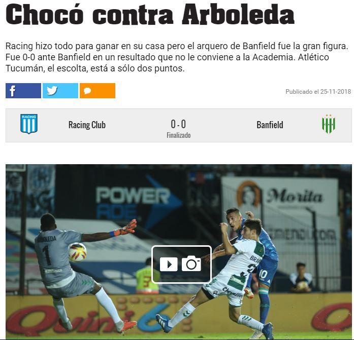 Maurico Arboleda, arquero colombiano que se encuentra en Banfield - Diario Olé