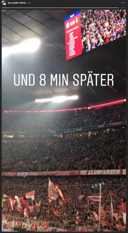 Lisa Müller muestra la hichada del Bayern Munich