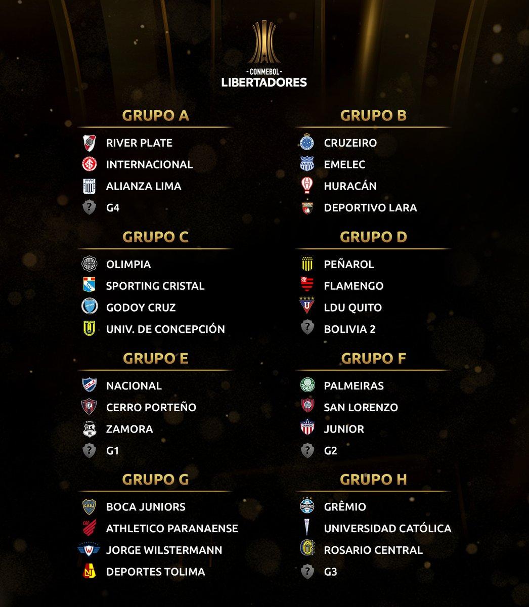 Copa Libertadores 2019, fase de grupos