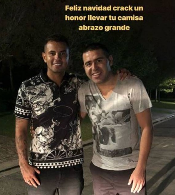 Edwin Cardona y Juan Román Riquelme