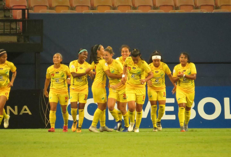 Jugadoras del Huila femenino en la Copa Libertadores