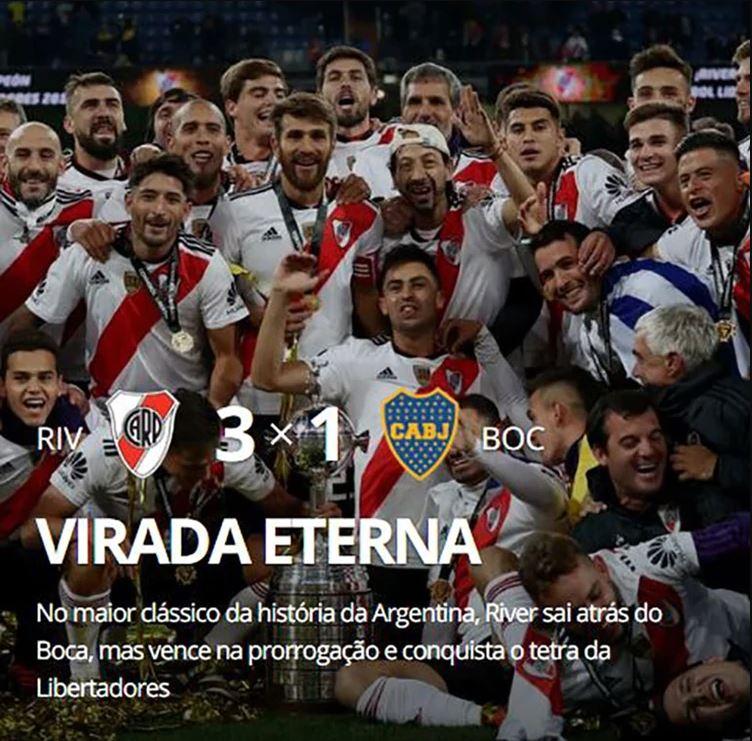 """""""Vuelta eterna"""", Globo Esporte (Brasil)"""