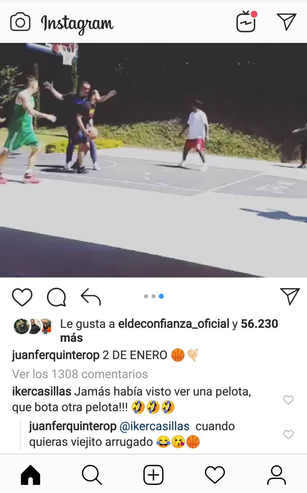 Juan Fernando Quintero e Iker Casillas | Broma en Instagram