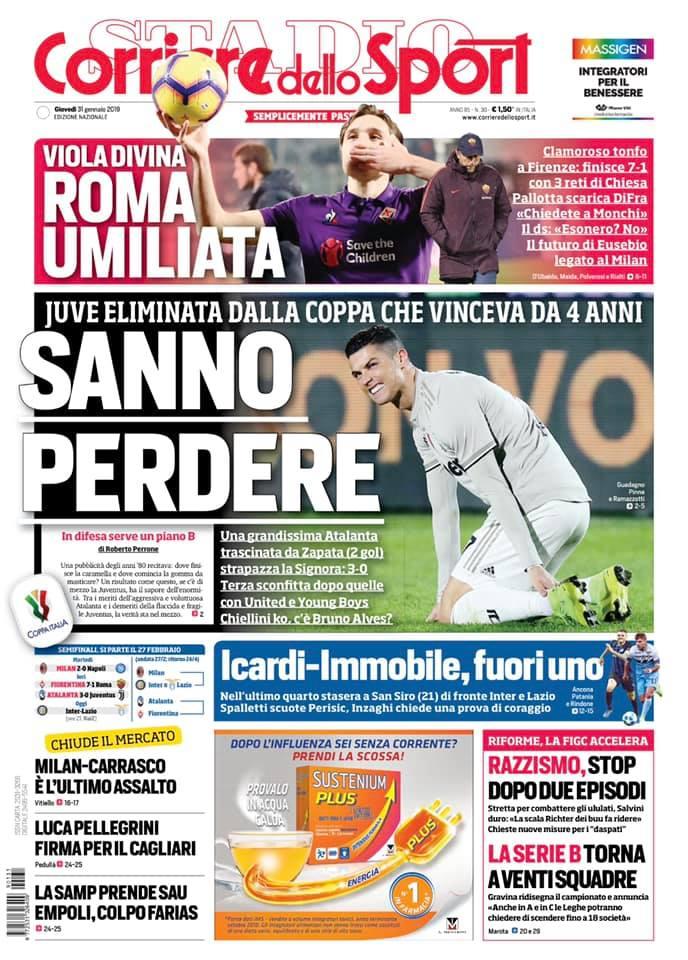 La portada de la Gazzetta dello Sport con Duván Zapata como protagonista