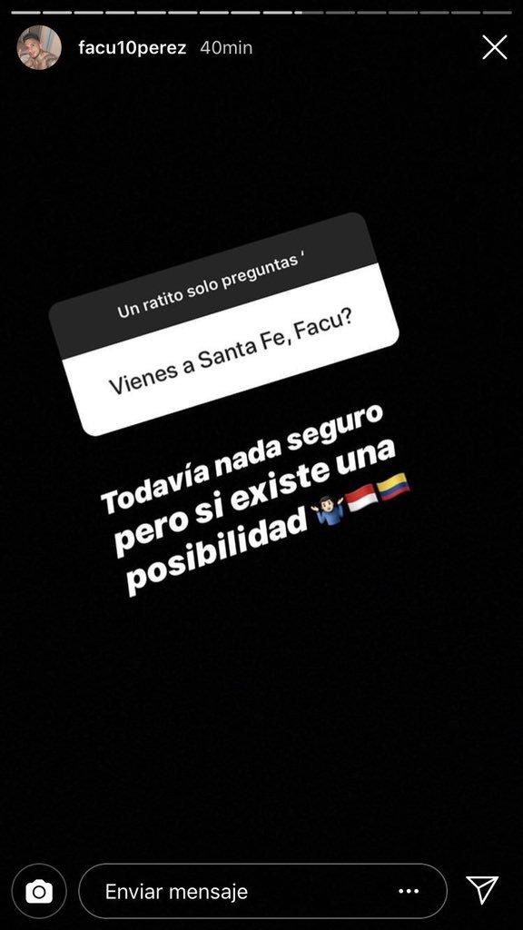 Facundo Pérez en Instagram