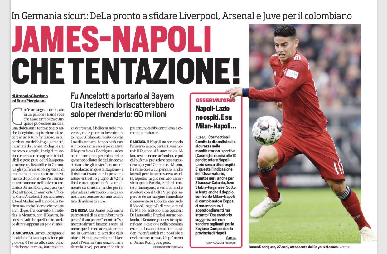 James Rodríguez , diario Corriere dello Sport