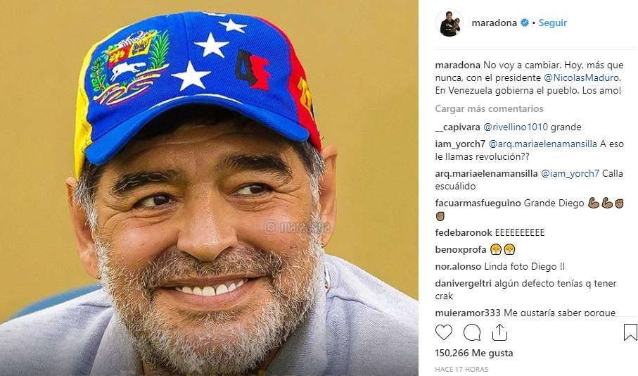 Diego Maradona en Instagram