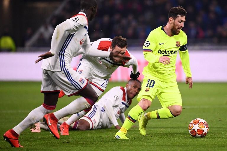 Leo Messi, jugador argentino en la Champions