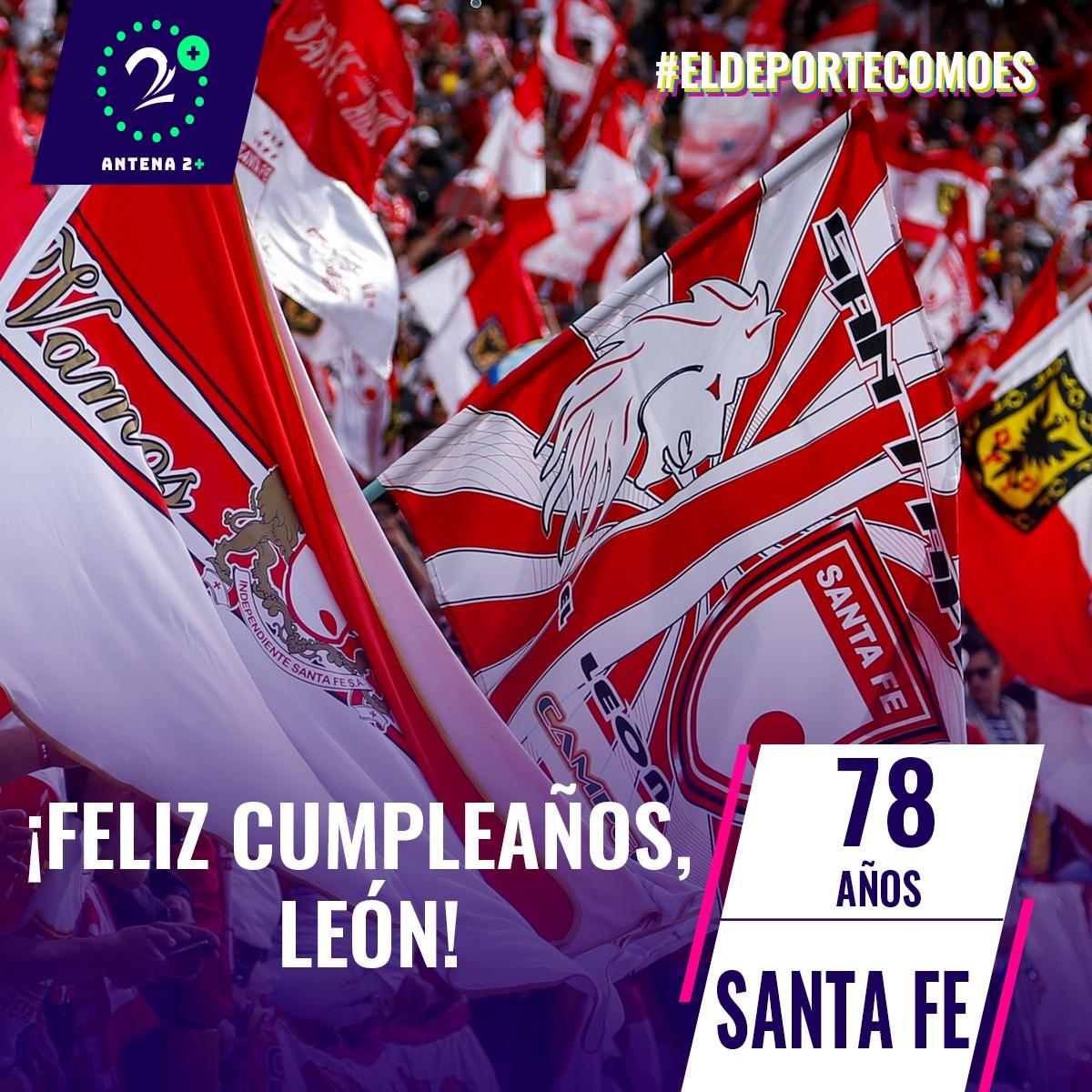 Independiente Santa Fe celebra sus 78 años de historia.