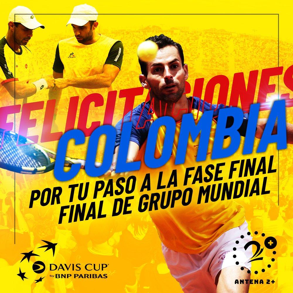 Colombia está en la fase final de la Copa Davis