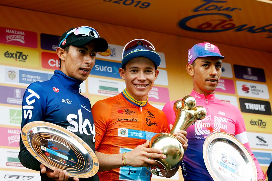 Egan Bernal, Miguel Ángel López y Daniel Felipe Martínez - Tour Colombia 2019