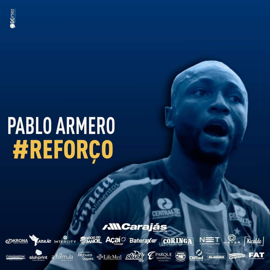 Pablo Armero, nuevo futbolista del Centro Sportivo Alagoano en Brasil