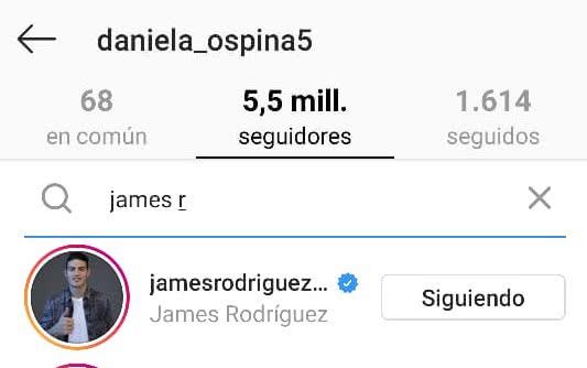 James Rodríguez vuelve a seguir a Daniela Ospina