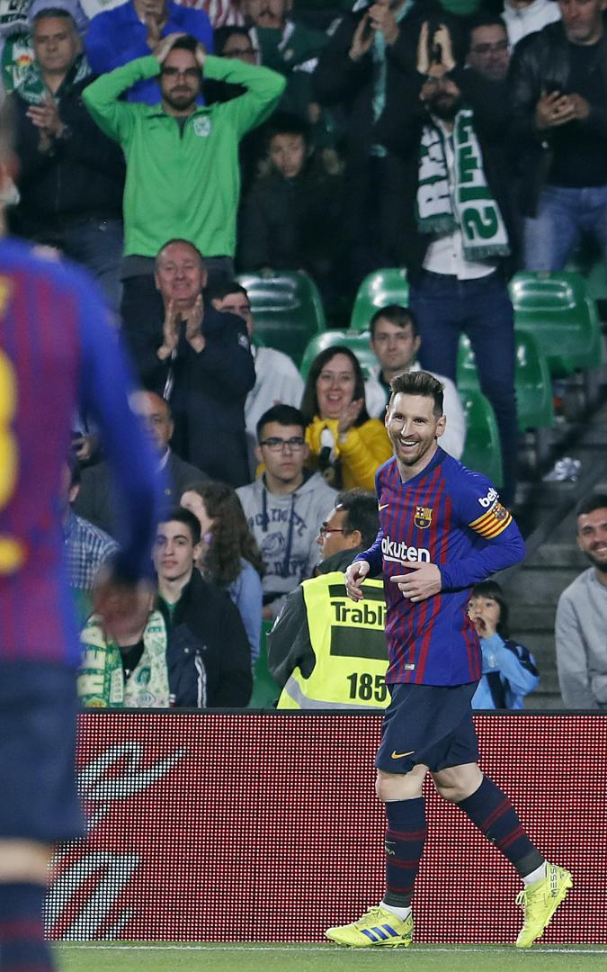 Hincha de Nacional presente en el juego Betis vs Barcelona