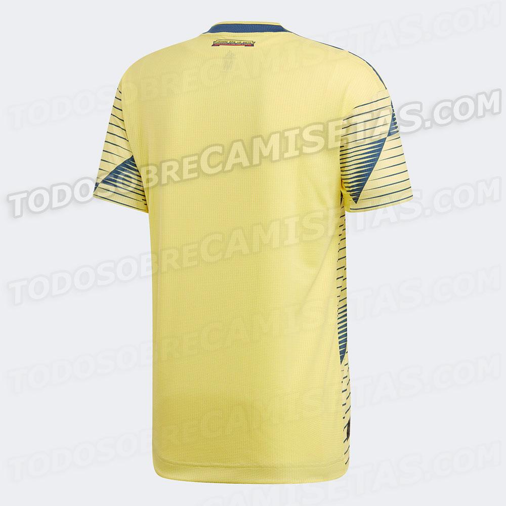 Respaldo de la que sería la nueva camiseta de la Selección Colombia