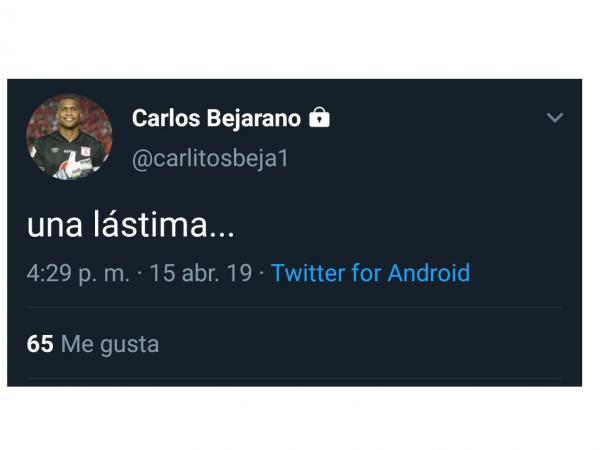 Publicación de Carlos Bejarano, arquero del América