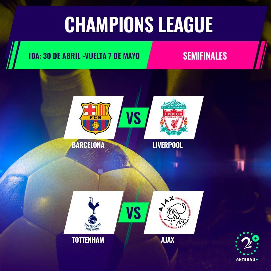 Así quedaron las semifinales de la Champions League