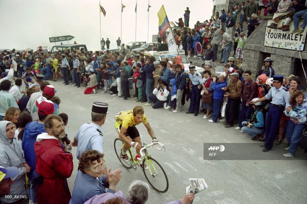 El ciclista estadounidense Greg Lemond durante el Tour de Francia 2019