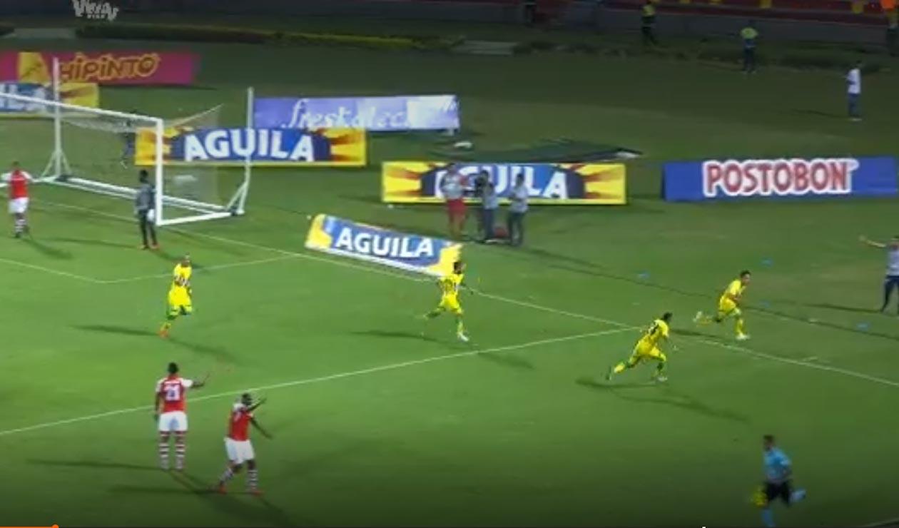 Gol Bucaramanga ante Santa Fe